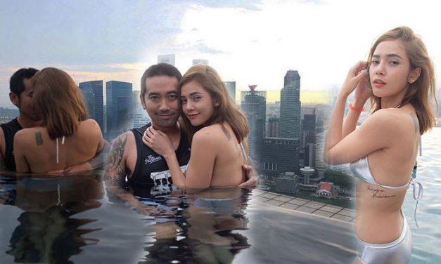 ภาพสวีท18+ อุ้ม ลักขณา ในสระน้ำบนดาดฟ้ากับแฟนหนุ่ม